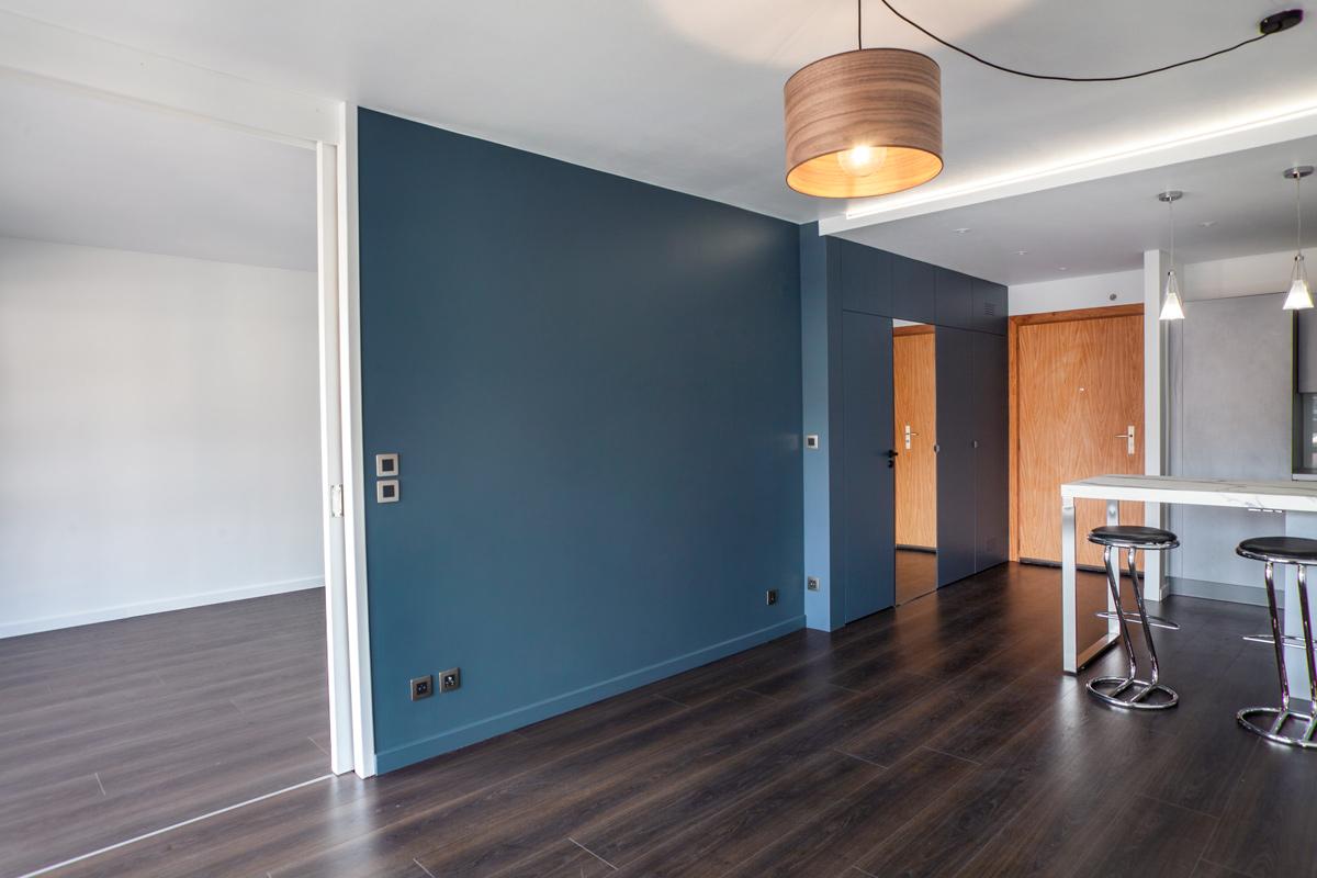 Vue de l'appartement avec ouverture sur le salon